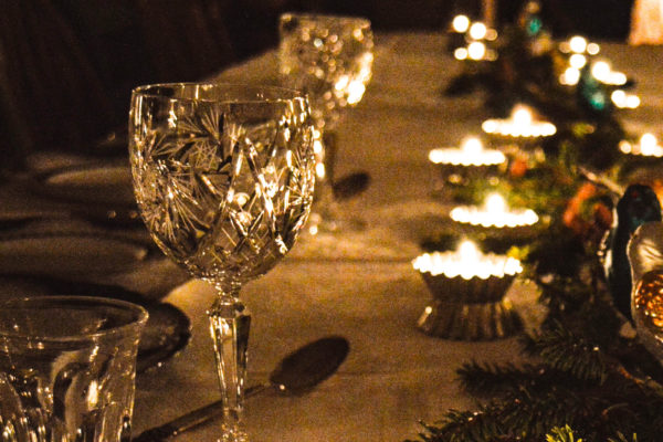 Christmas dinner in historical surroundings